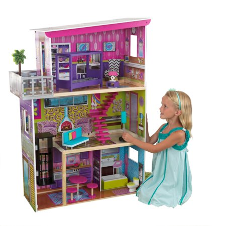 Make Dolls Houses - KidKraft Super Model Dollhouse with 11 accessories included