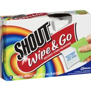(3 pack) Shout Wipe And Go Wipes, 12 Count
