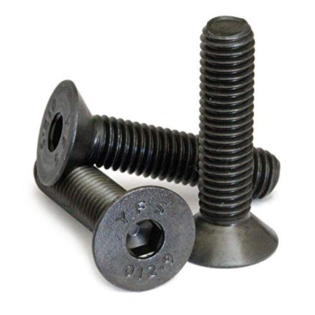 (20) M6-1.00 x 35mm (FT) - Flat Head Socket Caps Screws Countersunk DIN 7991 - Class 12.9 Alloy Steel w/Black Oxide - MonsterBolts (20, M6 x 35mm) ()