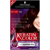 Schwarzkopf Keratin Color Anti-Age Hair Color Cream, 1.8 Ruby Noir