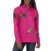 ed621ce336d66 Realtree & Mossy Oak Women's Fleece Performance Camo 1/4 Zip Jacket