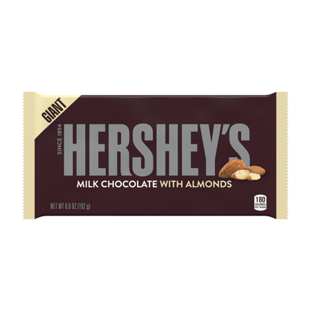 Hershey's, Milk Chocolate with Almonds Giant Bar, 6.8 Oz](Candy Coal)