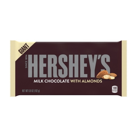 Hershey's, Milk Chocolate with Almonds Giant Bar, 6.8 Oz