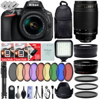 Nikon D5600 Digital SLR Camera w/ Nikon 18-55mm - Nikon 70-300mm - 30PC Bundle