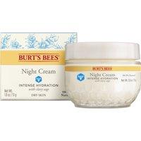 Burt's Bees Intense Hydration Night Cream, Moisturizing Night Lotion, 1.8 oz