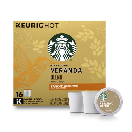 Starbucks Veranda Blend Blonde Roast Single Cup Coffee for Keurig Brewers, 1 Box of 16 (16 Total K-Cup Pods)