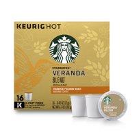 Starbucks Veranda Blend Blonde Roast Single Cup Coffee for Keurig Brewers, 1 Box of 16 (16 Total K-Cup Pods)