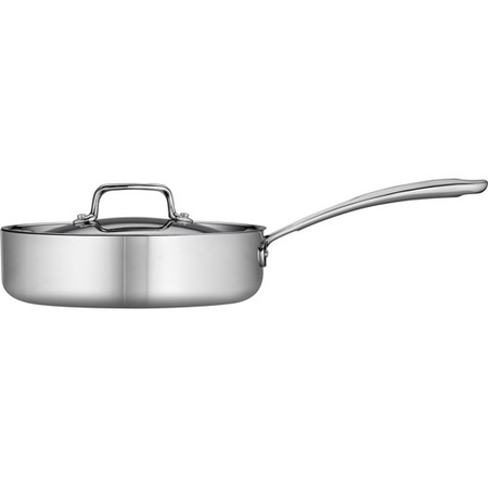 Copper Tri Ply - Tramontina 3-Qt Stainless Steel Tri-Ply Clad Deep Saute Pan with Lid