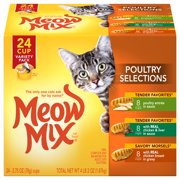 Meow Mix Poultry Selections Variety Pack Wet Cat Food, 2.75-Ounce Cans (24 Pack)