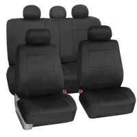 FH Group Neoprene Waterproof Full Set Car Seat Covers Airbag Ready & Split Bench Function, Black