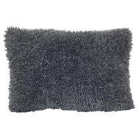 Mainstays Glacier Fur Decorative Throw Pillow, Grey