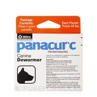 Panacur C Dewormer for Dogs, Three 4-Gram Packets 40 Pounds