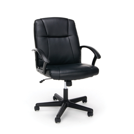 OFM Essentials Collection Executive Office Chair, Bonded Leather, in Black