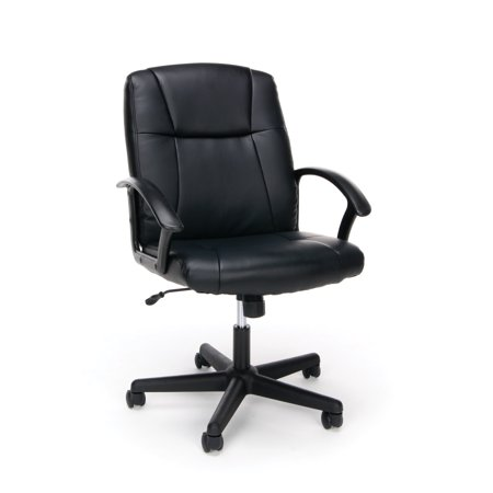 OFM Essentials Collection Executive Office Chair, Bonded Leather, in Black (Premium Bonded Leather)