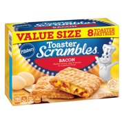 Pillsbury Toaster Scrambles Bacon Frozen Breakfast 8 Ct, 14.4 oz