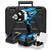 "Neiko 20V Lithium-Ion Cordless Impact Wrench | Socket Adapters Set 1/2"" Square Drive"