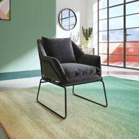 DHP Avery Accent Chair, Grey Velvet