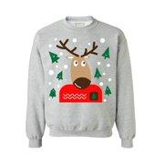 0019c0c49e Awkward Styles Reindeer Christmas Sweatshirt Funny Ugly Christmas Sweater  Xmas Reindeer Sweater Holiday Gift Women s Christmas