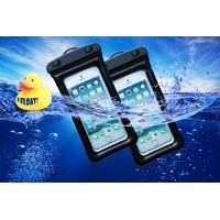 [2-PACK] ZForce Waterproof Floater Cell Phone Case For Smartphones iPhone, Samsung, HTC, Sony, Nokia, Blackberry, and iPod (Black)