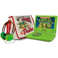"Teenage Mutant Ninja Turtles 7"" Portable DVD Player with Carrying Bag and Headphones"