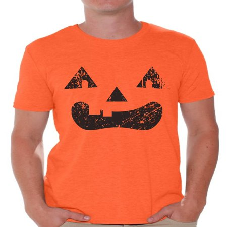 Awkward Styles Halloween Gifts Men's Halloween Shirt Jack O Lantern Shirts For Him Trick Or Treat Shirt Halloween Tops Spooky Shirt - Spooky Treats For Halloween