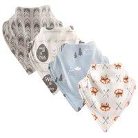 Basics Baby Unisex Bandana Bibs, 4-Pack
