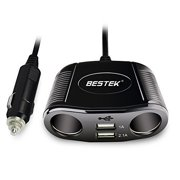 Bestek 150w 2 Socket Cigarette Lighter Adapter Dc Outlet Splitter 3 1a Dual Usb