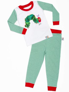 "Baby Toddler Boy or Girl Unisex ""Very Hungry Caterpillar"" Tight Fit Pajamas 2pc Set"