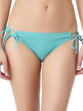 Juniors' Crochet Side Tie Swimsuit Bottom