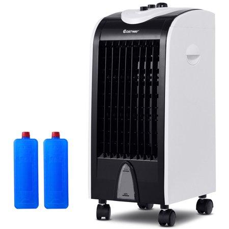 Costway Evaporative Portable Air Conditioner Cooler Fan Humidify W/Filter Knob Control