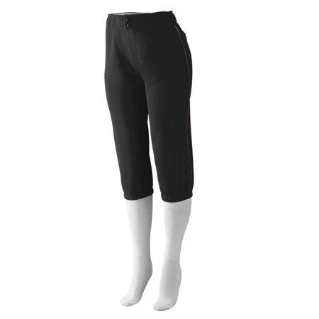 Augusta Sportswear Girls' Drive Low Rise Softball Pant S Black/Black