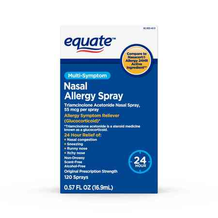 Equate Multi-Symptom Nasal Allergy Spray, 120 Sprays, 0.57 fl