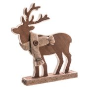 9 5 Country Cabin Brown Standing Reindeer Christmas Table Top Piece Decoration