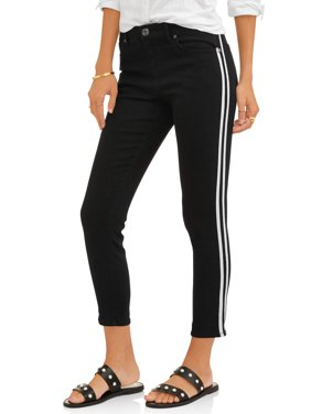 Women's Ankle Skinny Jean with Racing Stripe