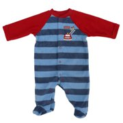 c056545037 Little Wonders Infant Boys Blue Fleece Firefighter Dog Blanket Sleeper 0-3m