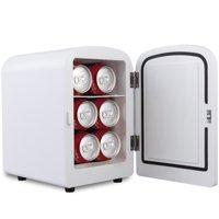 Costway Mini Fridge Portable Cooler Warmer Heats 4L Auto Car Boat Home Office White