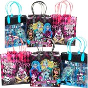 12 Monster High Party Favor Bags Birthday Candy Treat Favors Gifts Plastic Bolsa De Recuerdos