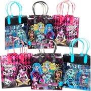 12 Monster High Party Favor Bags Birthday Candy Treat Favors Gifts Plastic Bolsa De Recuerdos
