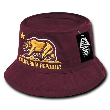 California Republic Bear Fisherman Hat, Dessert Digital, Large/X-Large, 100% Cotton By WHANG