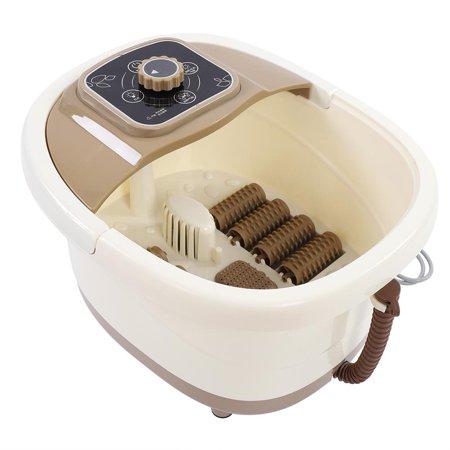 HERCHR Foot Massager, Pedicure Tub, Portable Foot Spa Bath Massager Bubble Heat Soaker Vibration Pedicure Soak Relaxing Tub 110V