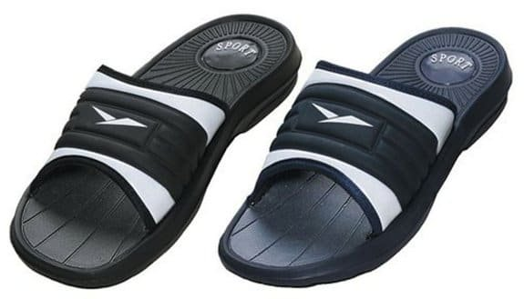 Men's Rubber Slide Sandal Slipper Comfortable Shower Beach Shoe Slip
