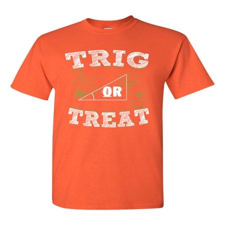 Halloween Stores Iowa City (Trig Or Treat Trigo Math Trick Halloween Funny DT Adult T-Shirt)