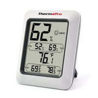 ThermoPro TP50 Indoor thermometer Humidity Monitor Weather Station with Temperature Gauge Humidity Meter Hygrometer