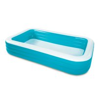 Play Day 10' Deluxe Inflatable Family Pool, Blue and White