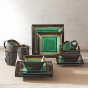 Better Homes & Gardens Jade Crackle Dinnerware, Set of 16