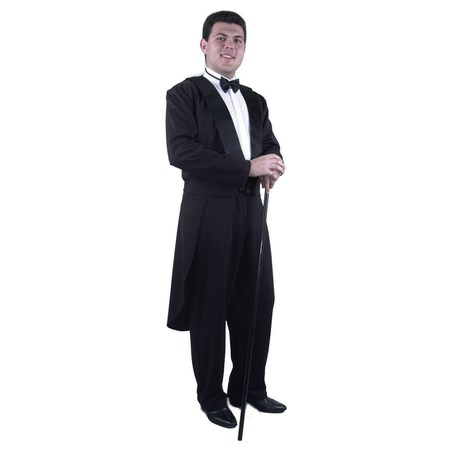 Adult Tux Jacket Including Tie, Tail and Pants Costume - Pants Costume