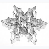 5pcs Stainless Steel Snowflake Cookie Cutters Christmas DIY Cake Fondant Biscuits Molds Baking Moulds Cooking Kitchen Tools