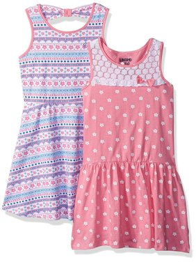 Polka Dot and Mosaic Print Dresses, 2-Pack (Little Girls & Big Girls)