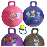 hippity hop 45 cm including free foot pump, for children ages 3-6 space hopper, hop ball bouncing toy - 1 ball