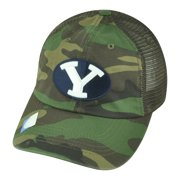 NCAA Brigham Young Cougars Hermit Snapback Mesh Garment Wash Camouflage Hat  Cap 0874523d7e7
